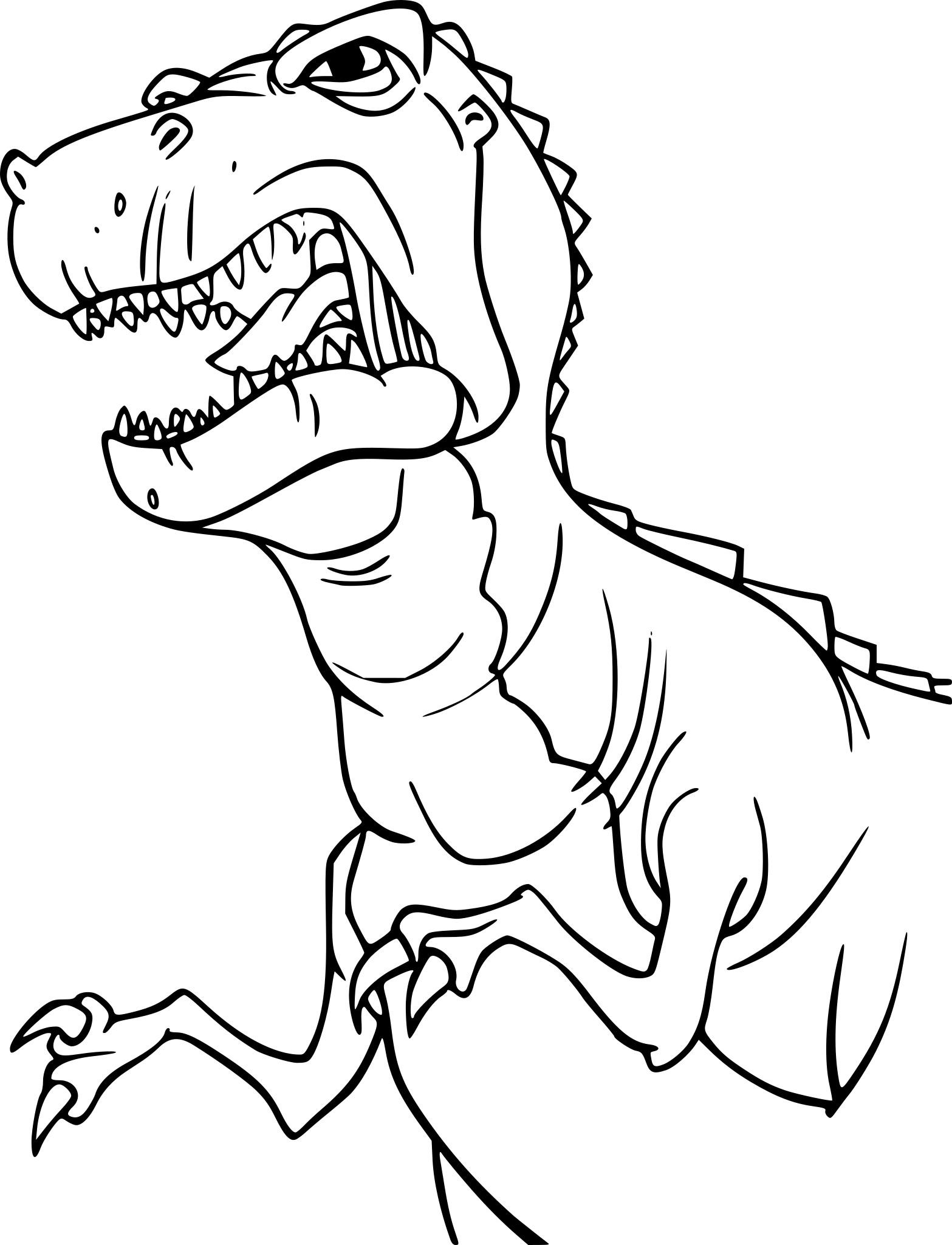 Coloriage Dinosaure Tyrex À Imprimer Sur Coloriages pour Coloriage Dinosaure