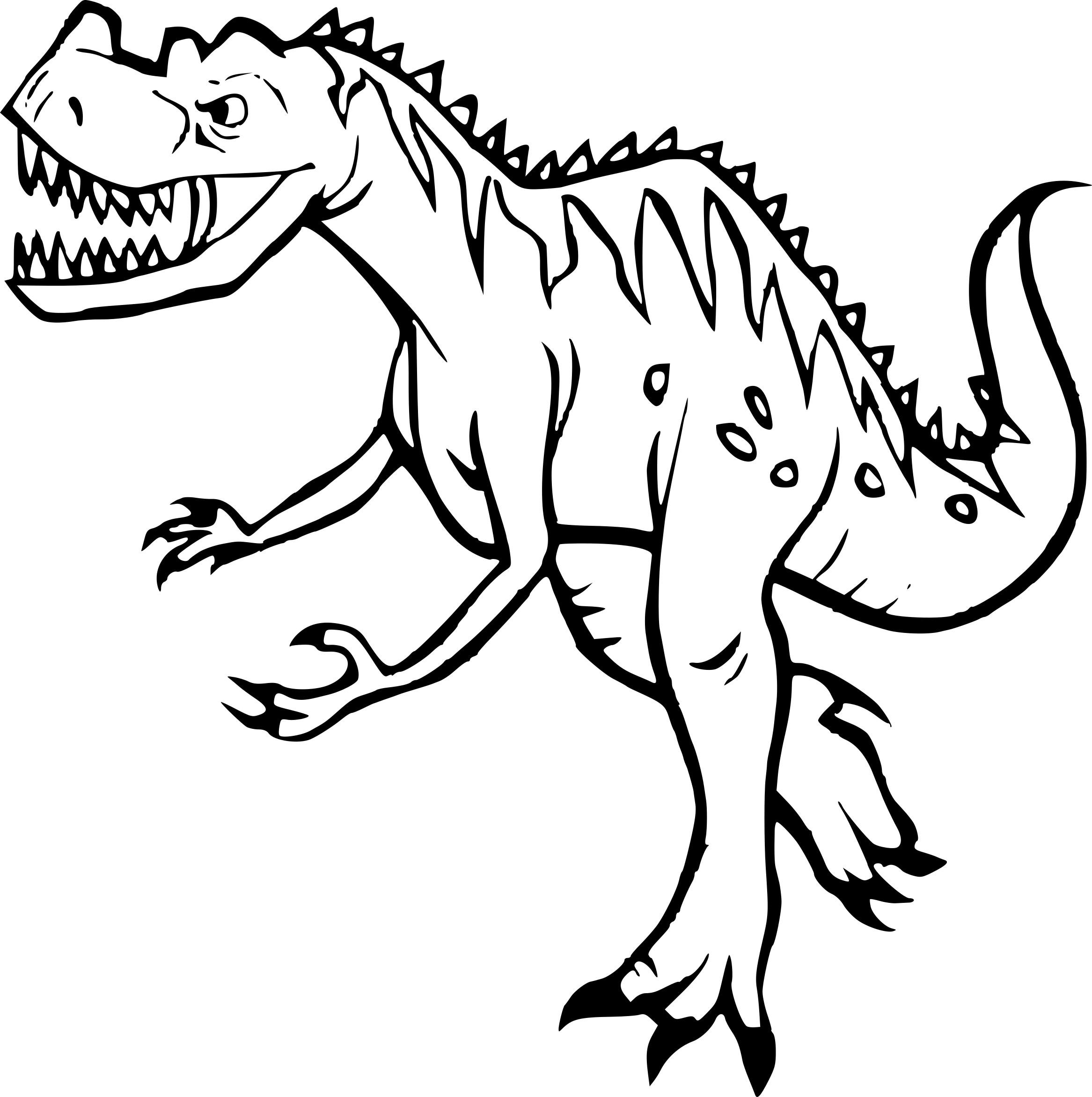 Coloriage Dinosaure Tyrex Dessin À Imprimer Sur Coloriages pour Coloriage Dinosaure