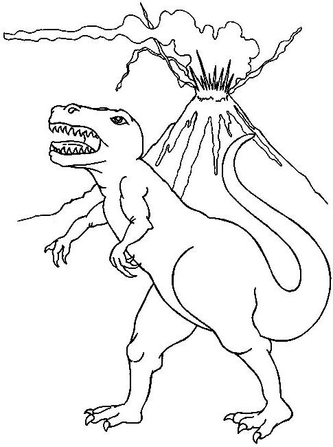 Coloriage Dinosaure Volcan - 1001 Animaux concernant Coloriage Dinosaure À Imprimer Gratuit