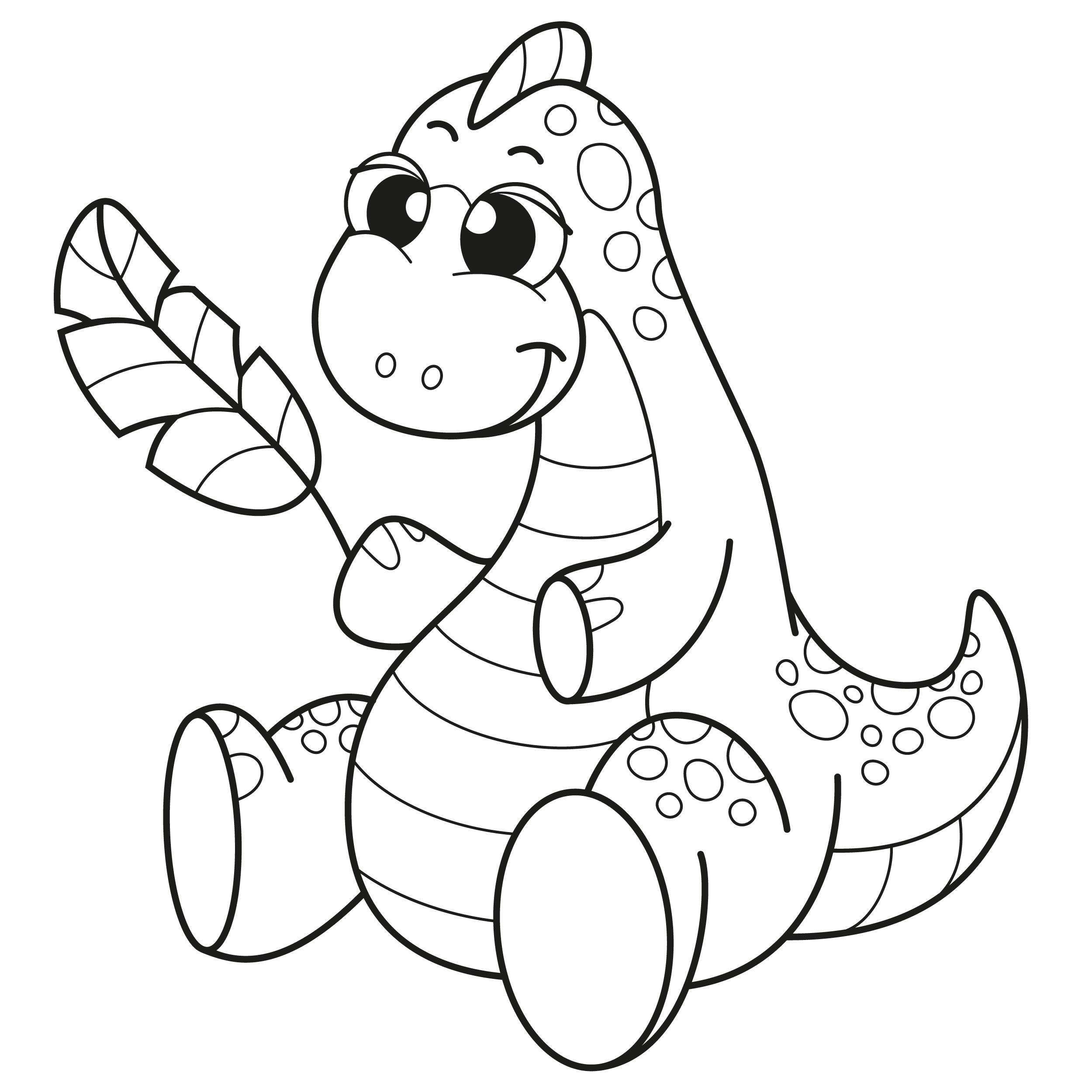 Coloriage - Dinosaures : Dinosaure 15 - 10 Doigts encequiconcerne Dinausore Coloriage