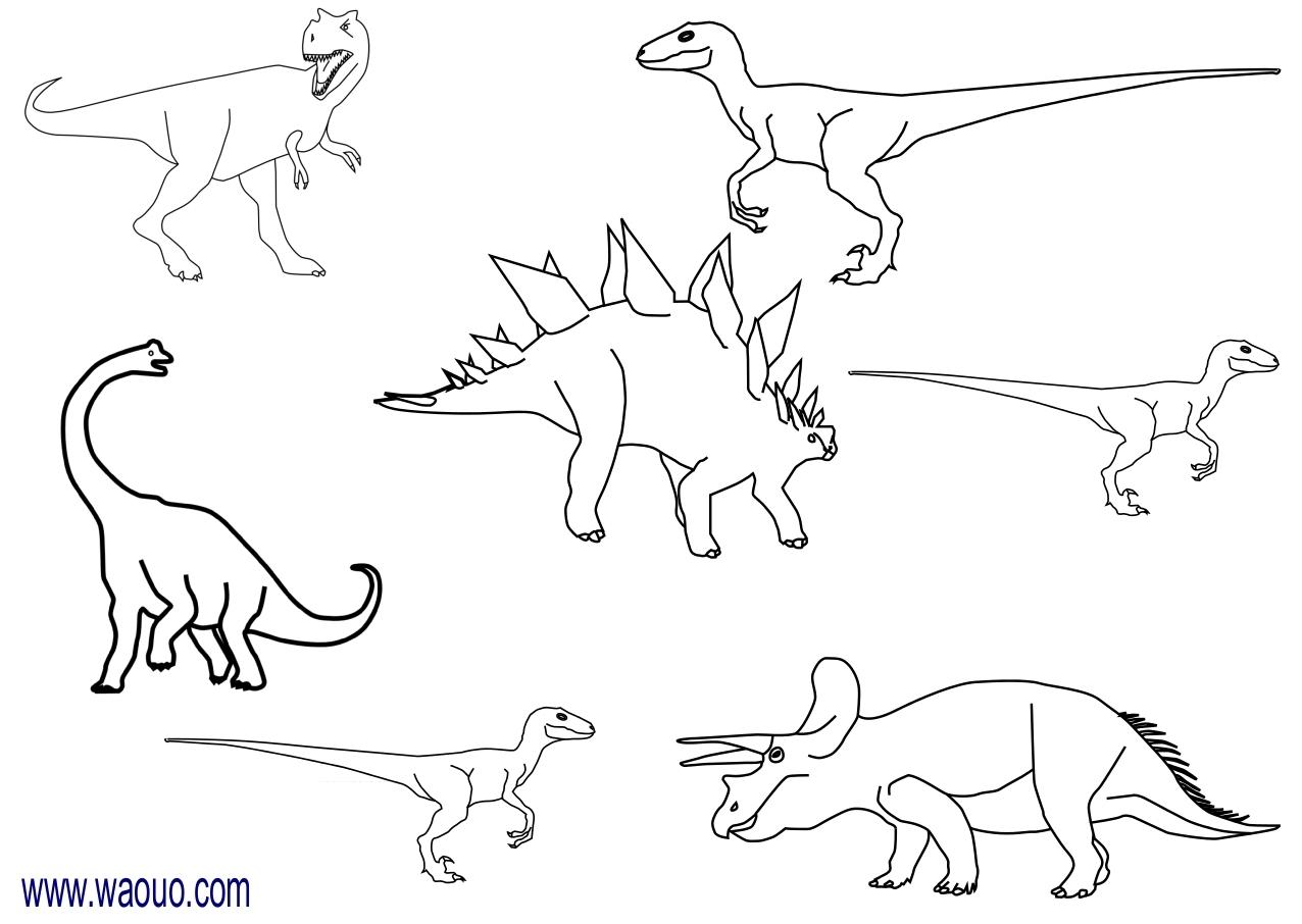Coloriage Dinosaures Gratuit À Imprimer Et Colorier pour Coloriage Dinosaure Tyrannosaure