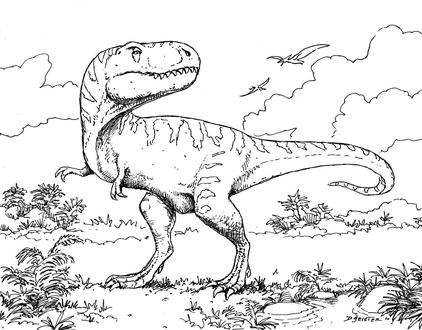 Coloriage Dinosaures Sur Ordinateur - 1001 Animaux intérieur Coloriage Sur Portable