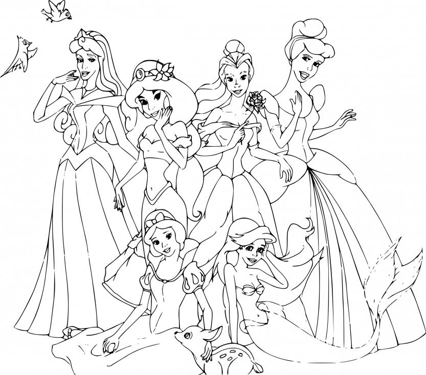 Coloriage Disney Princesse À Imprimer Sur Coloriages pour Coloriage Princesse Disney