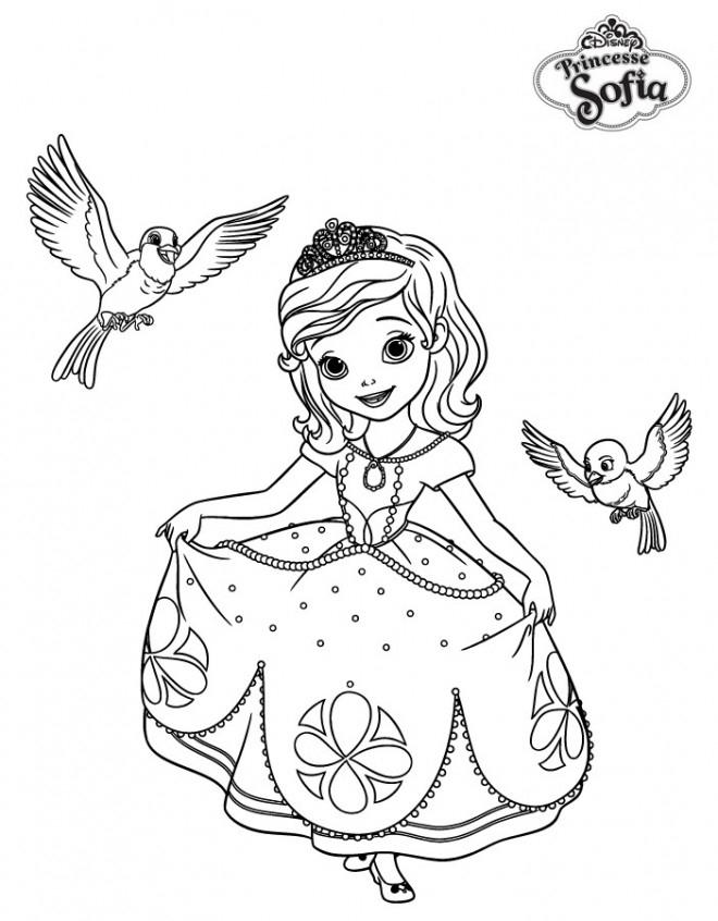 Coloriage Disney Princesse Sofia Dessin Gratuit À Imprimer intérieur Coloriage Princesse Ambre