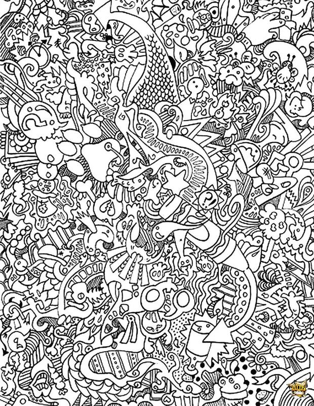 Coloriage : Doodle Difficile Pour Adultes concernant Coloriage En Ligne Difficile