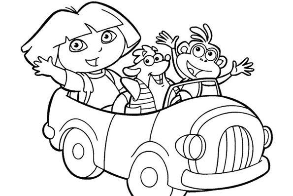 Coloriage Dora 9 - Momes serapportantà Desin A Colorier