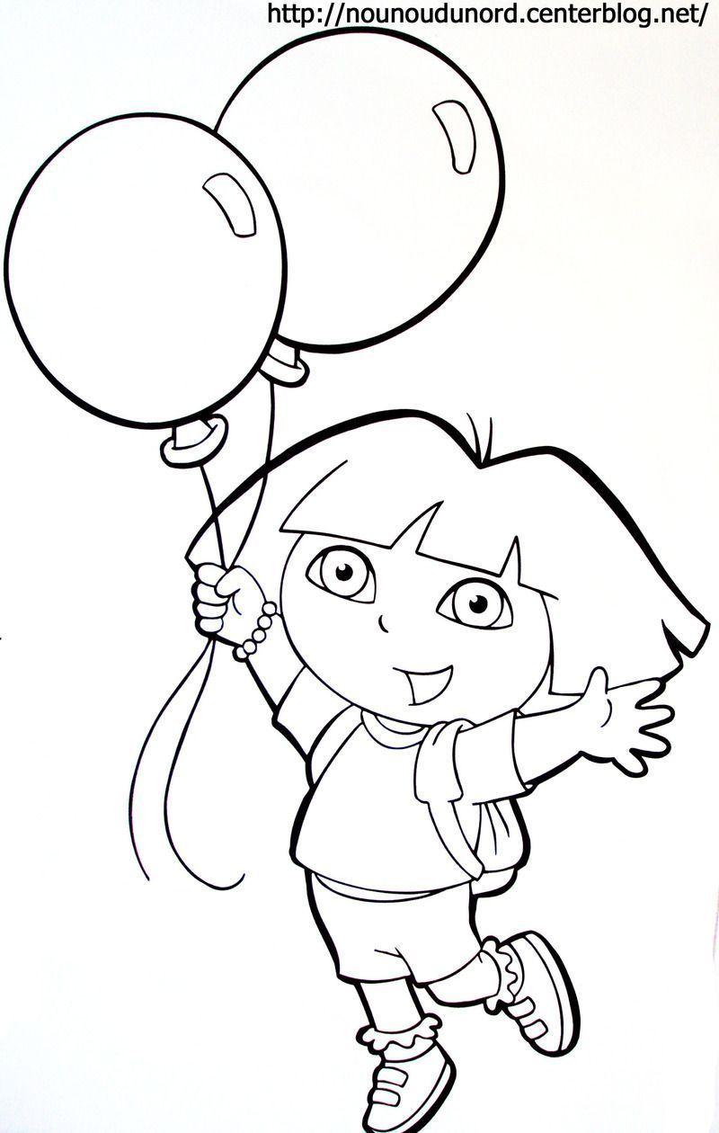 Coloriage Dora à Coloriage Dora À Imprimer