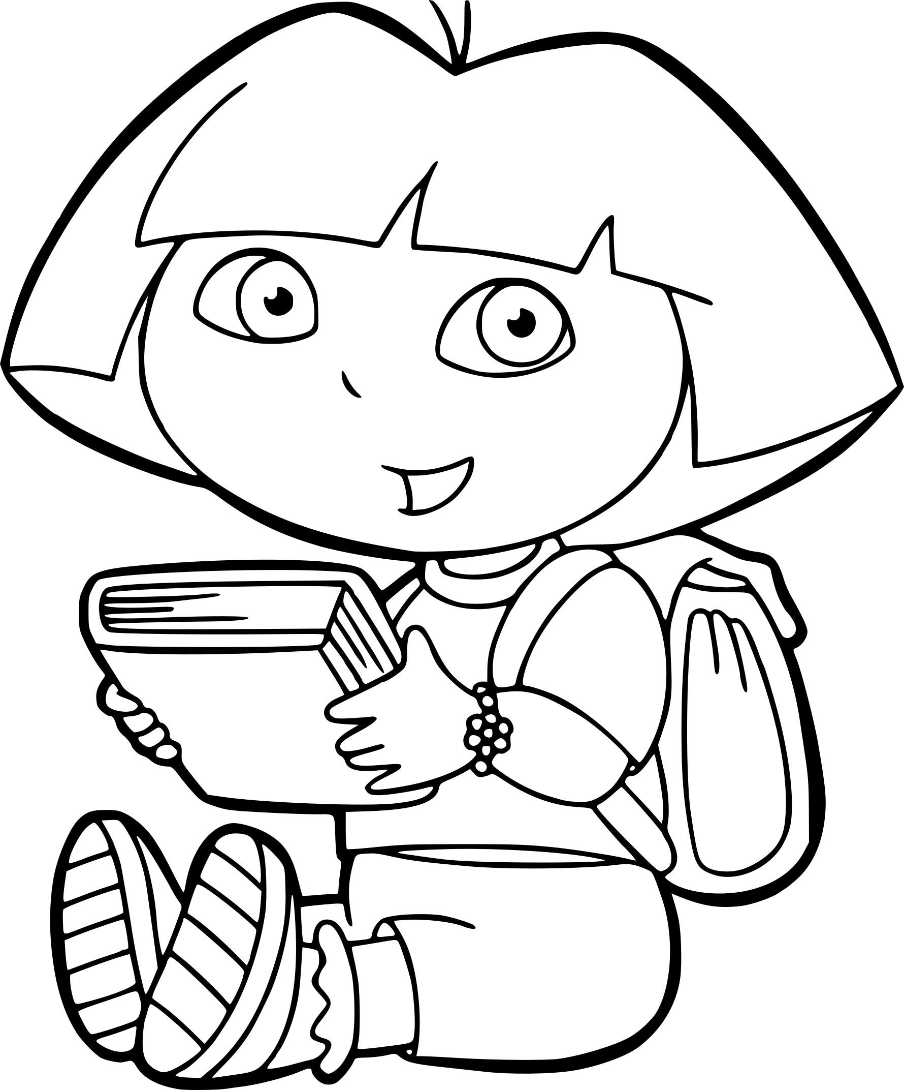Coloriage Dora À L'École À Imprimer Sur Coloriages pour Coloriage Dora À Imprimer
