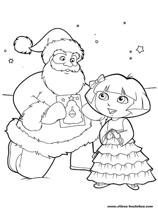 Coloriage Dora De Noël Dessin Gratuit À Imprimer pour Dessin A Colorier Dora