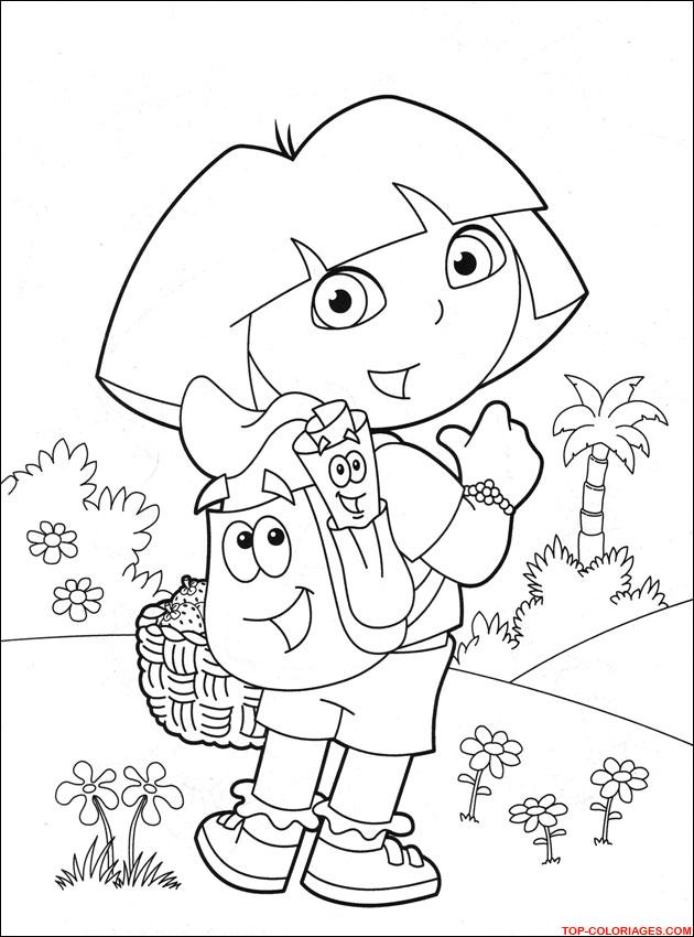 Coloriage Dora - Dessins - Activités Pour Enfants - Petits encequiconcerne Tfou Gratuit