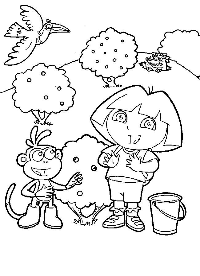 Coloriage Dora Et Babouche En Ligne Dessin Gratuit À Imprimer dedans Coloriage De Dora En Ligne