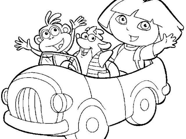 Coloriage Dora Gratuit A Imprimer 19 Dessins De Coloriage tout Jeux De Dessin Dora