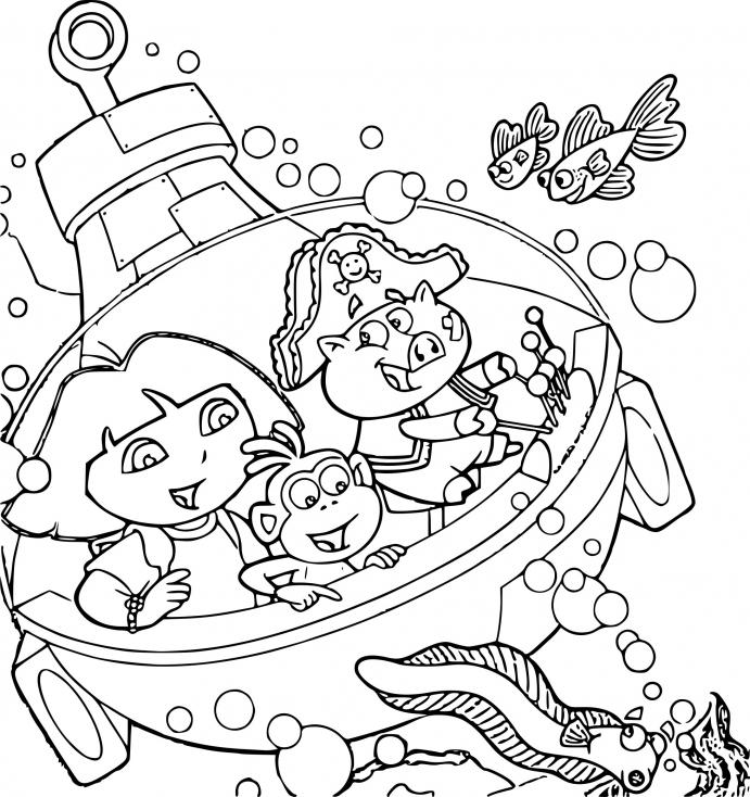 Coloriage Dora Jeux À Imprimer Sur Coloriages encequiconcerne Jeux De Dessin Dora