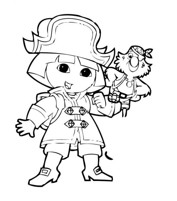 Coloriage Dora Pirate Dessin Gratuit À Imprimer destiné Dessin De Pirate À Imprimer