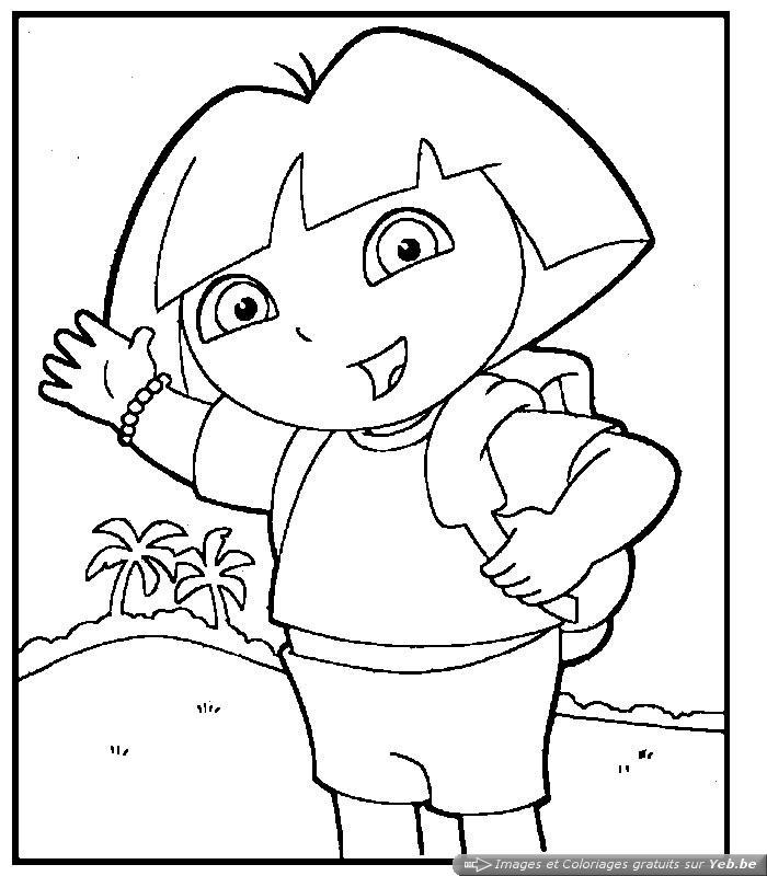 Coloriage Dora Princesse Des Neiges encequiconcerne Coloriage Dora À Imprimer