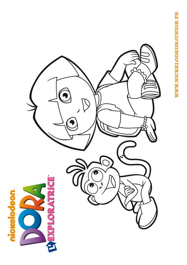 Coloriage Dora tout Coloriage De Dora En Ligne