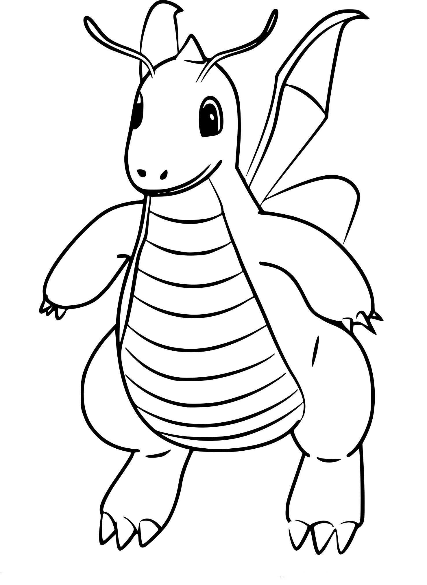 Coloriage Dracolosse Pokemon Go À Imprimer intérieur Photo De Pokémon À Imprimer