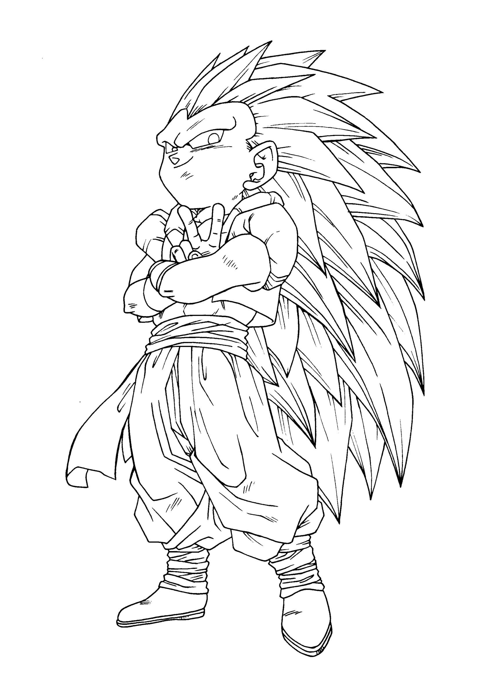Coloriage Dragon Ball Z Vegeta Super Sayen 3 | Meilleur avec Coloriage Dragon Ball Z Super