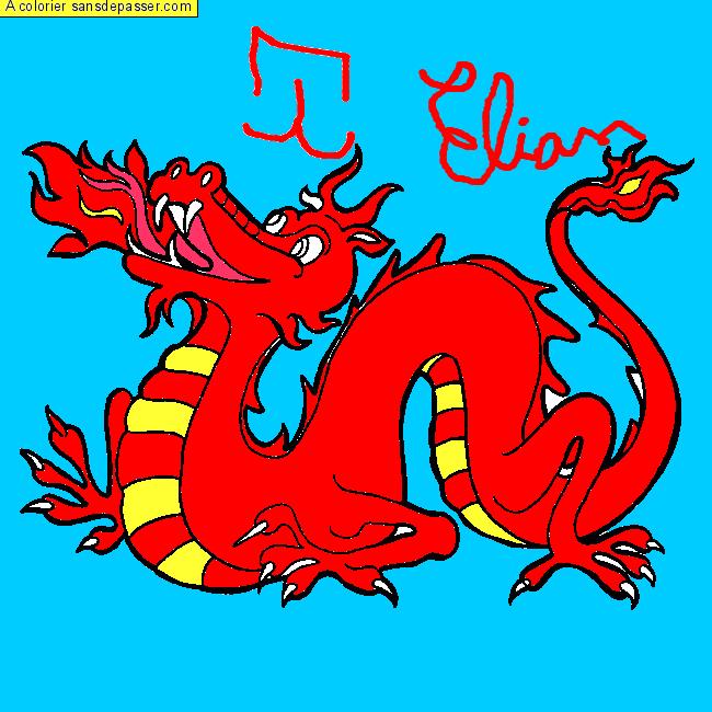 Coloriage Dragon Chinois - Sans Dépasser à Coloriage Dragon Chinois