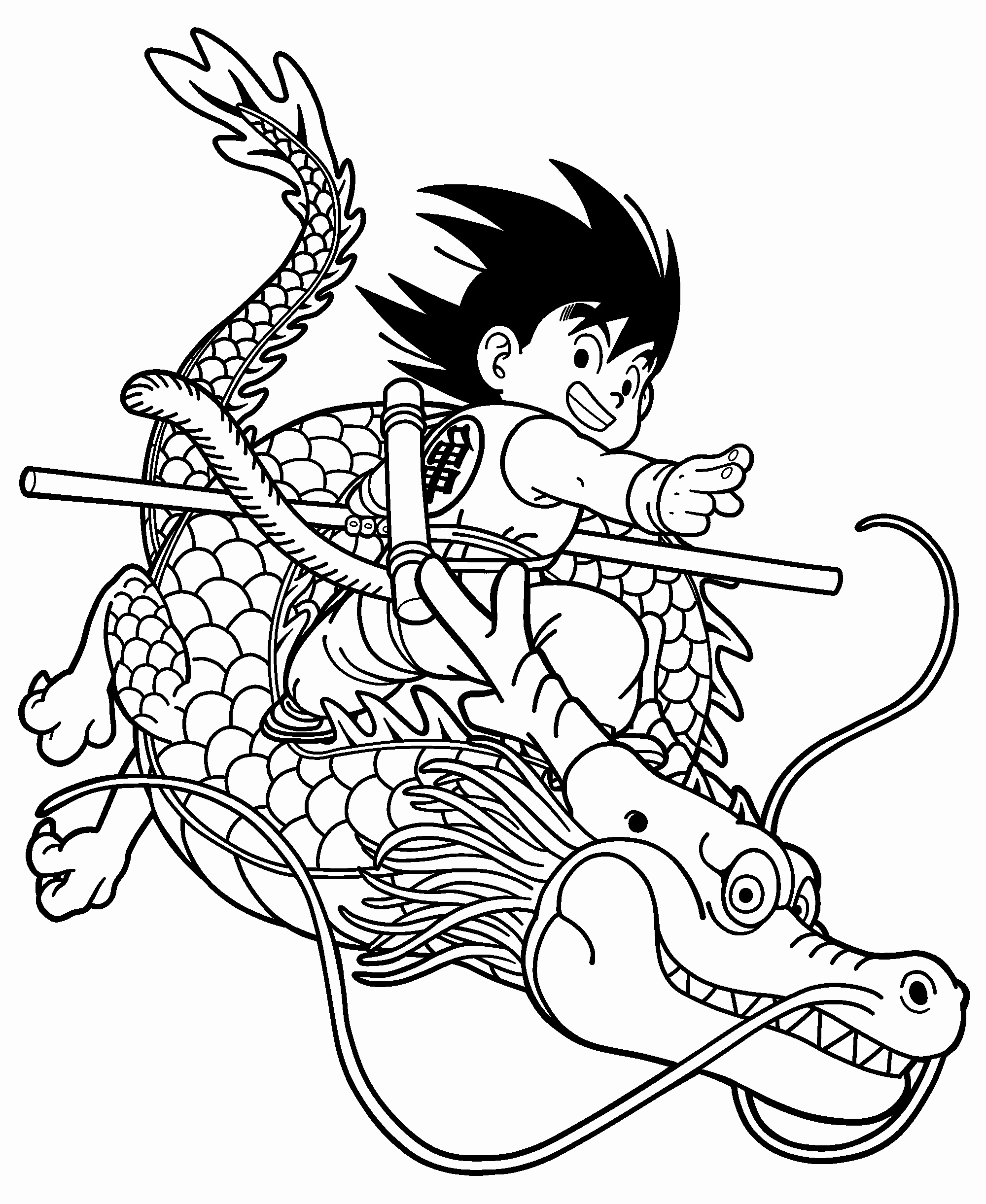 Coloriage Dragon Japonais tout Coloriage Difficile Dragon