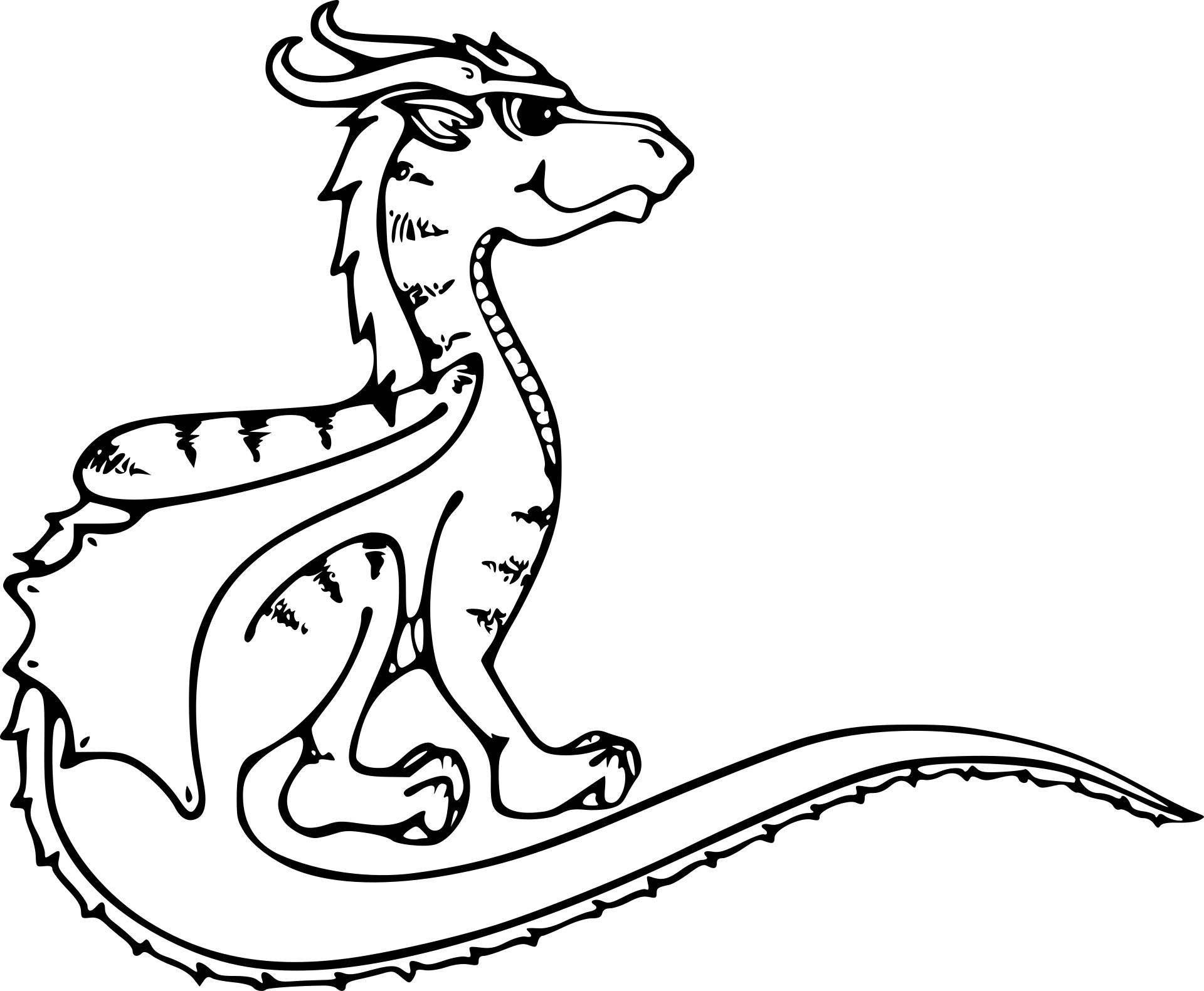 Coloriage Dragon Manga À Imprimer Sur Coloriages destiné Coloriage Dragon