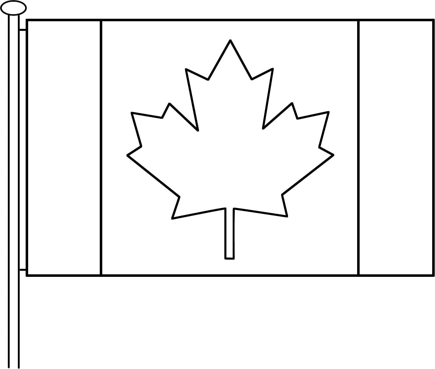 Coloriage Drapeau À Imprimer Pour Les Enfants - Cp10433 dedans Drapeau Du Canada A Colorier