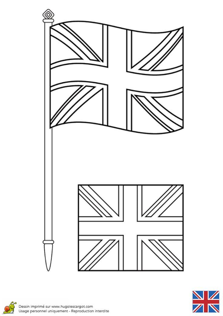 Coloriage Drapeau Anglais En 2020 | Drapeau Anglais intérieur Drapeau Anglais À Colorier