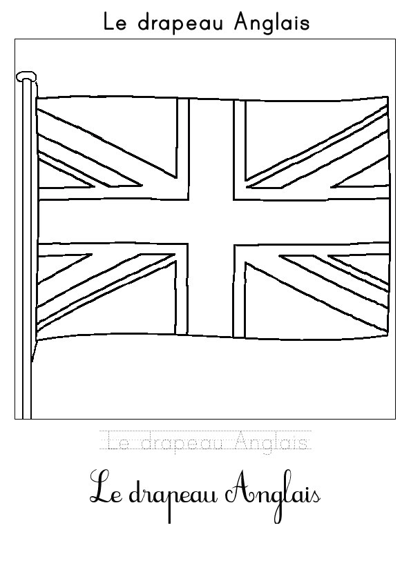Coloriage Drapeau Anglais Imprimer | Danieguto pour Coloriage Drapeau Anglais