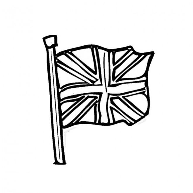 Coloriage Drapeau Angleterre En Vecteur Dessin Gratuit À encequiconcerne Coloriage Angleterre