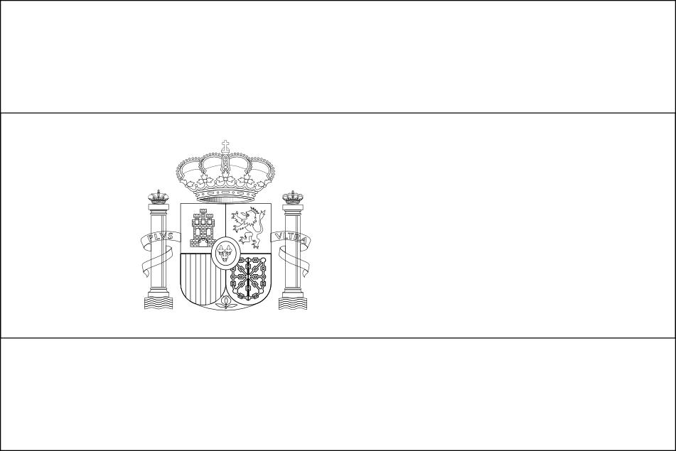 Coloriage Drapeau Espagne Euro 2016 À Imprimer destiné Dessin D Espagne