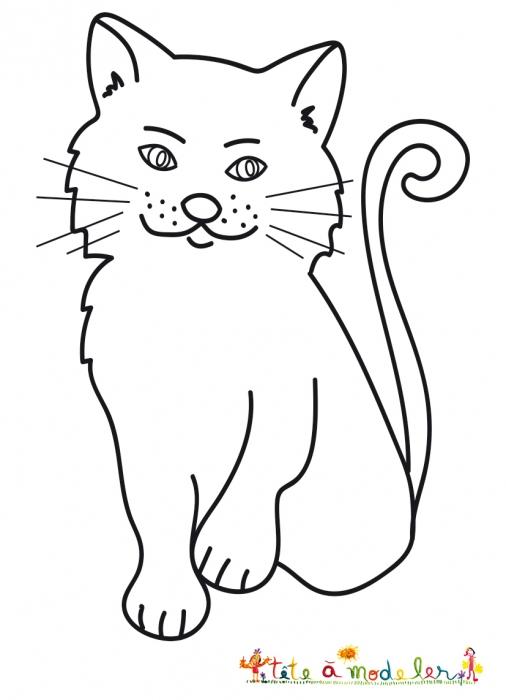 Coloriage Du Chat Sérieux pour Dessin De Petit Chat