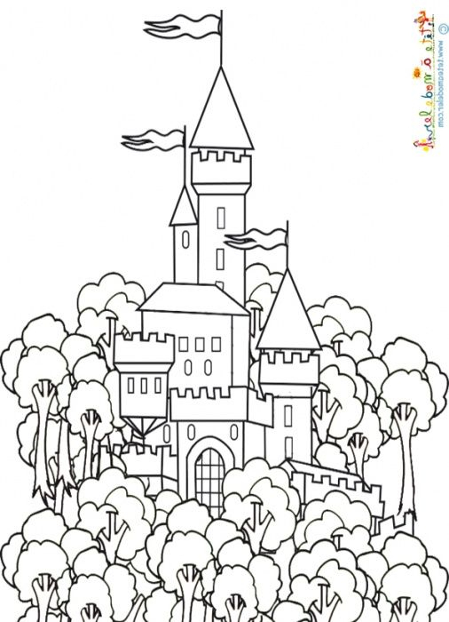 Coloriage Du Chateau Du Roi In 2020 | Home Decor Decals, Art intérieur Coloriage Chateau Hanté