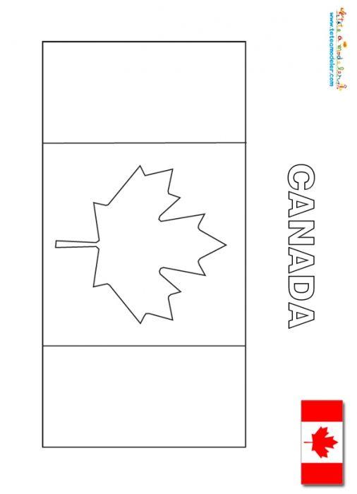 Coloriage Du Drapeau Du Canada - Les Drapeaux Du Monde Sur serapportantà Drapeau A Imprimer