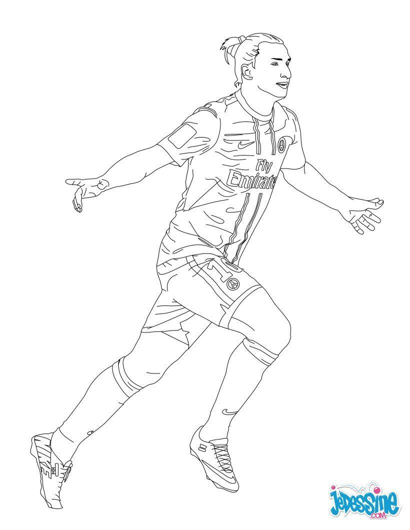 Coloriage Du Joueur De Foot Zlatan Ibrahimovik. À Imprimer concernant Coloriage Kylian Mbappe A Imprimer