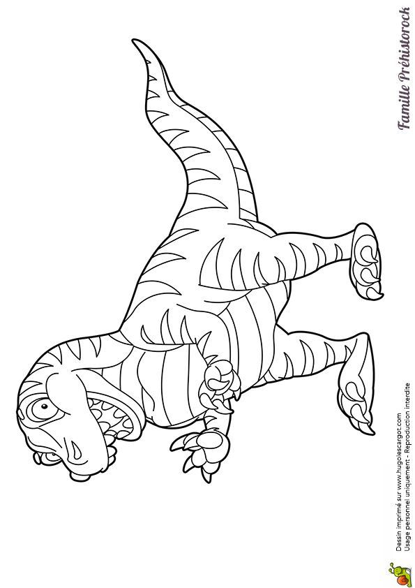 Coloriage Du Plus Terrifiant Des Dinosaures, Le tout Coloriage Dinosaure Tyrannosaure