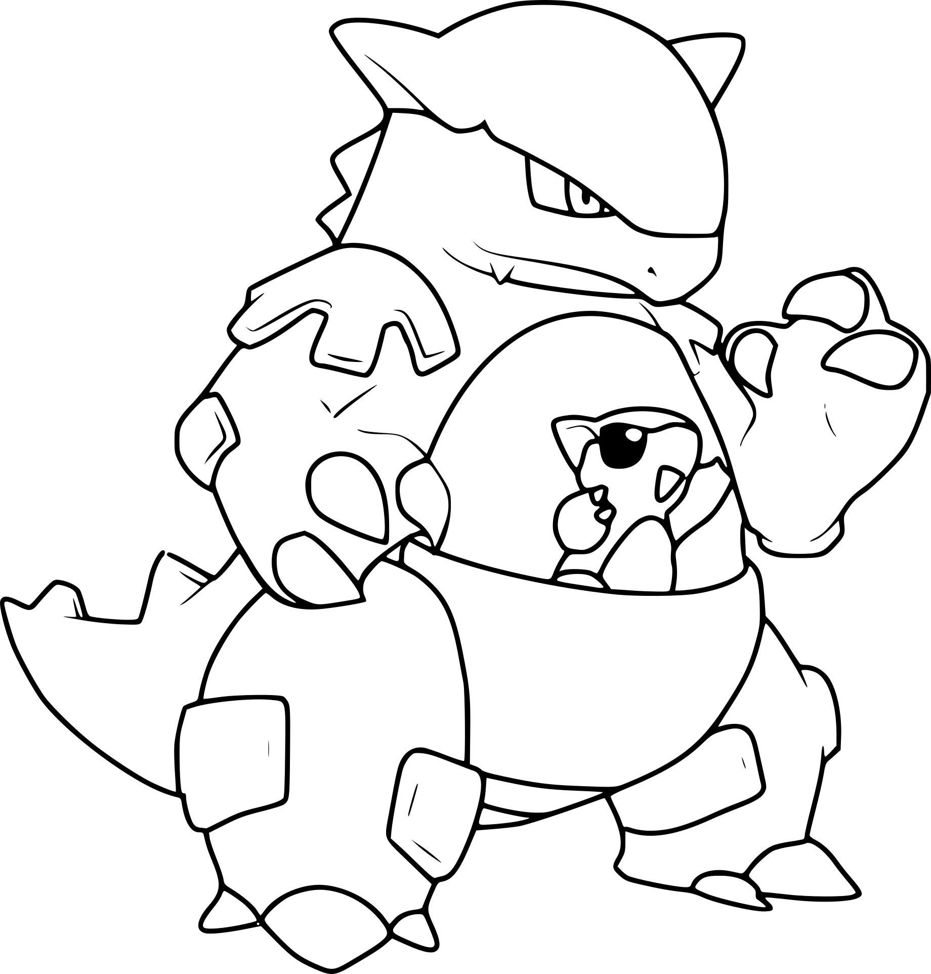 Coloriage Du Pokemon Kangourex À Imprimer Sur Coloriage De tout Coloriage Pokemon Salameche Imprimer