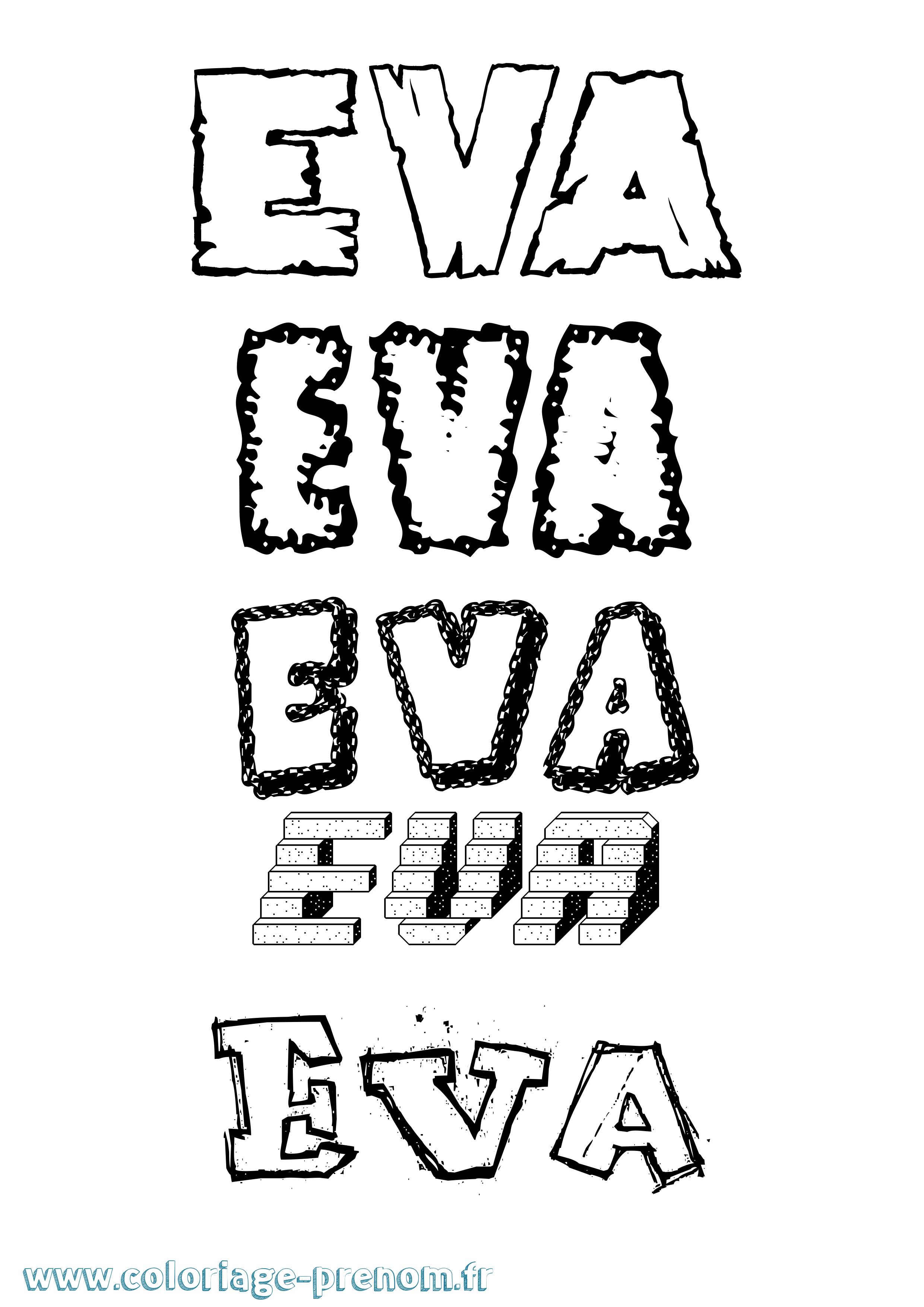 Coloriage Du Prénom Eva : À Imprimer Ou Télécharger Facilement destiné Coloriage Eva Queen A Imprimer