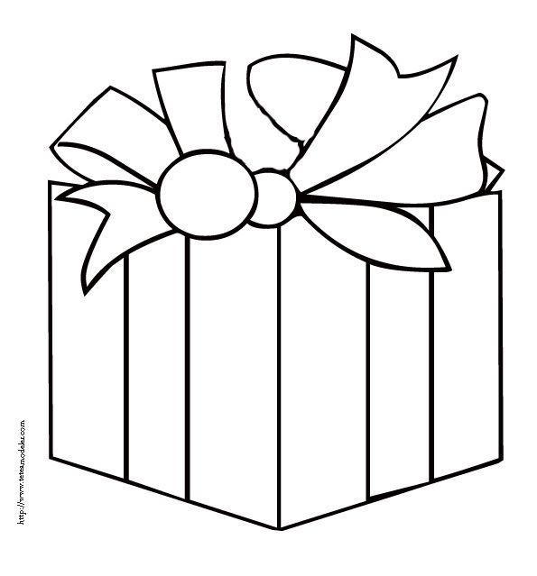 Coloriage D'Un Gros Cadeau De Noël | Coloriage Noel avec Coloriage Cadeau De Noel
