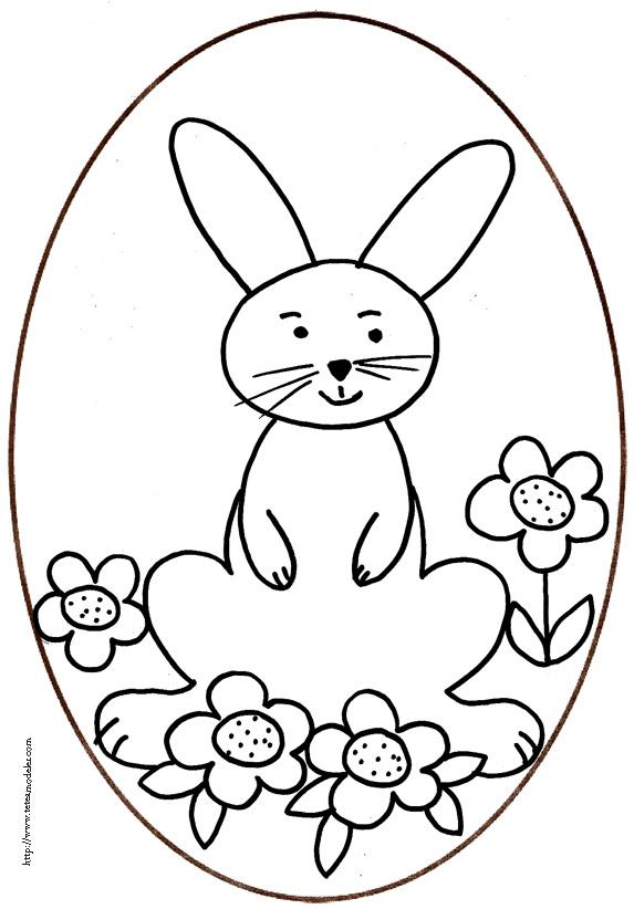 Coloriage D'Un Oeuf De Pâques Du Lapin Assis - Tête À Modeler concernant Oeufs De Paques À Colorier