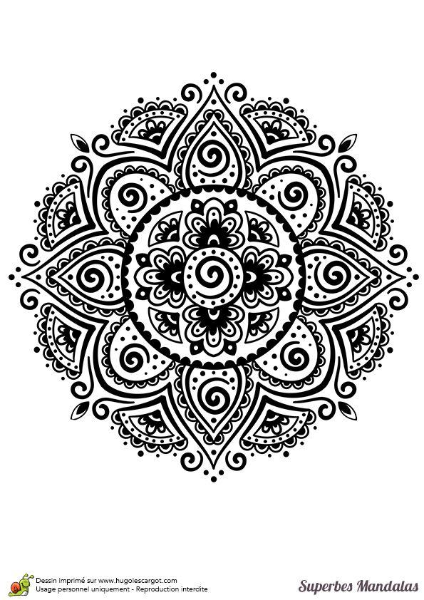 Coloriage D'un Superbe Mandala Indien Assez Classique Et pour Coloriage Rosace À Imprimer Gratuit