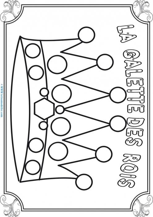 Coloriage D'Une Couronne De La Galette Des Rois concernant Coloriage De Galette