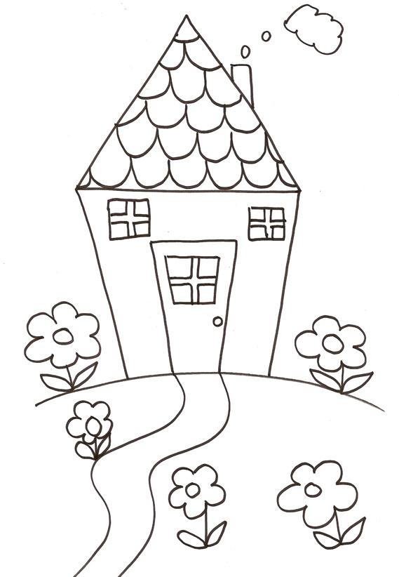 Coloriage D'Une Maison Dessin N°5 - Tête À Modeler pour Dessin Maison Facile