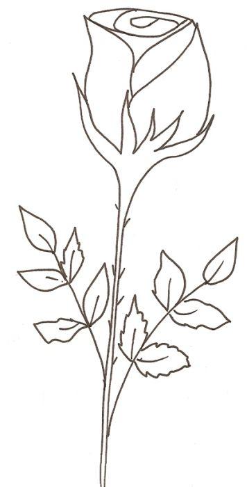 Coloriage D'Une Rose | Art Kit, Drawings, Applique Patterns concernant Coloriage D Une Rose
