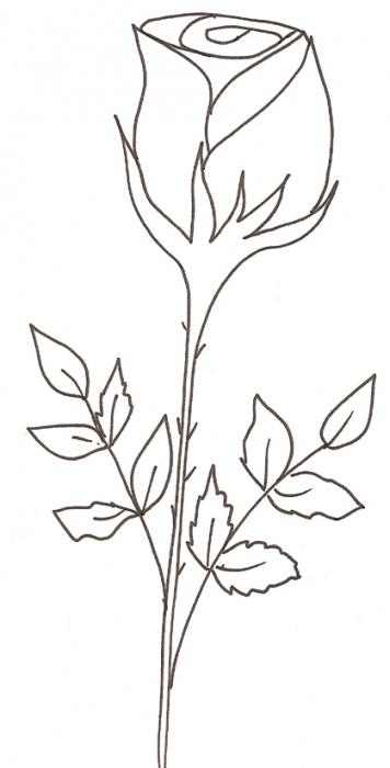 Coloriage D'Une Rose - Tête À Modeler avec Dessin De Rose A Imprimer