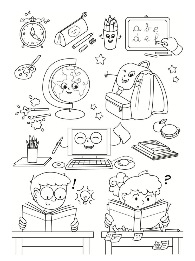 Coloriage École : 25 Modèles À Imprimer destiné Coloriage D Une École