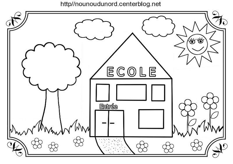 Coloriage Ecole Crayon Cartable dedans Coloriage Rentrée Maternelle