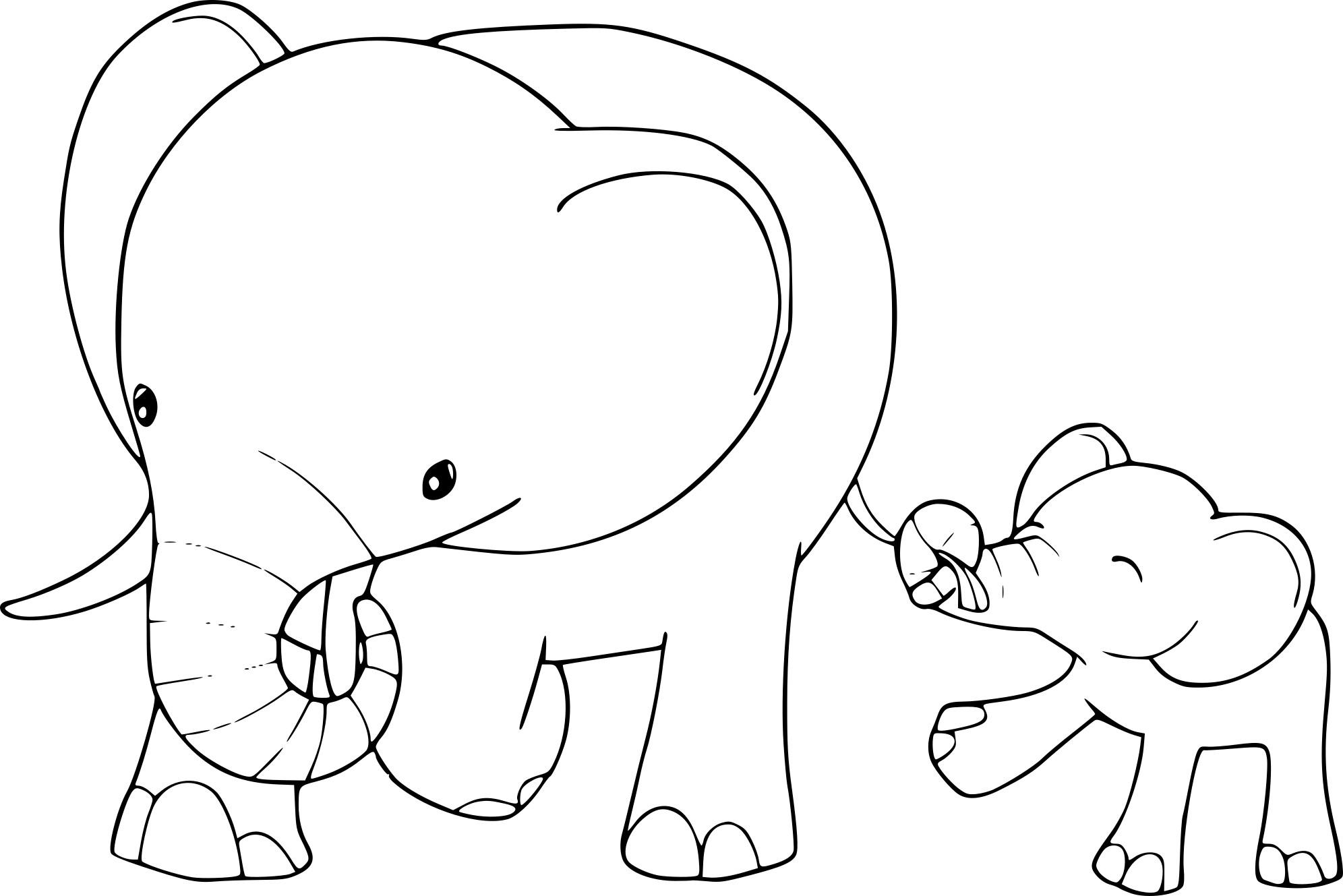 Coloriage Éléphant Enfants À Imprimer intérieur Colorage Enfant