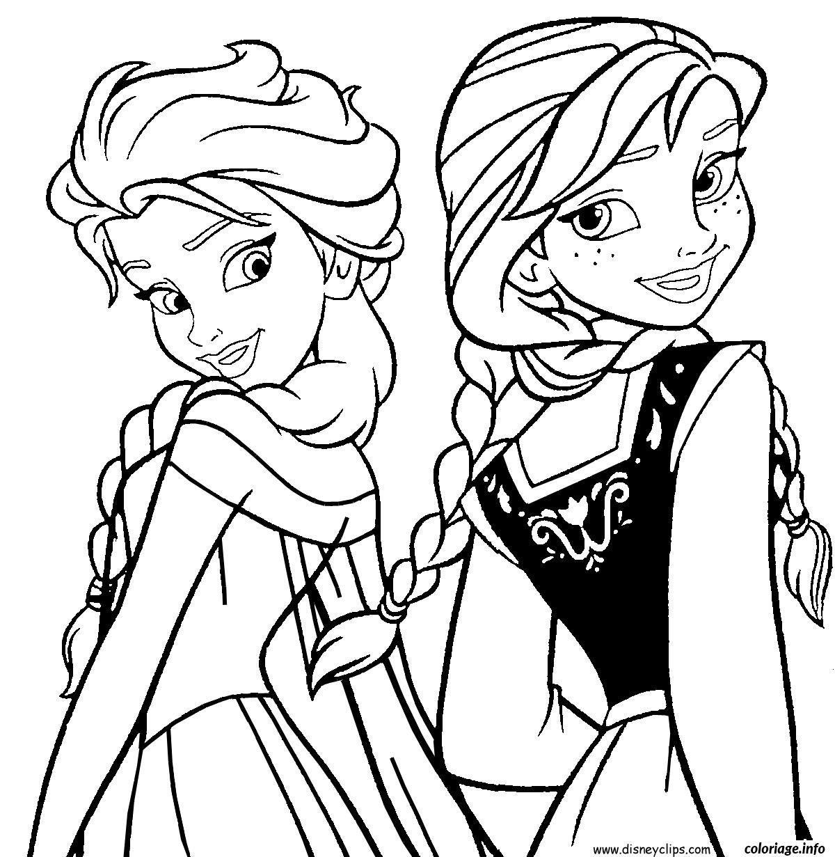 Coloriage Elsa Et Anna Reine Des Neiges Dessin À Imprimer destiné Coloriage Reine Des Neiges