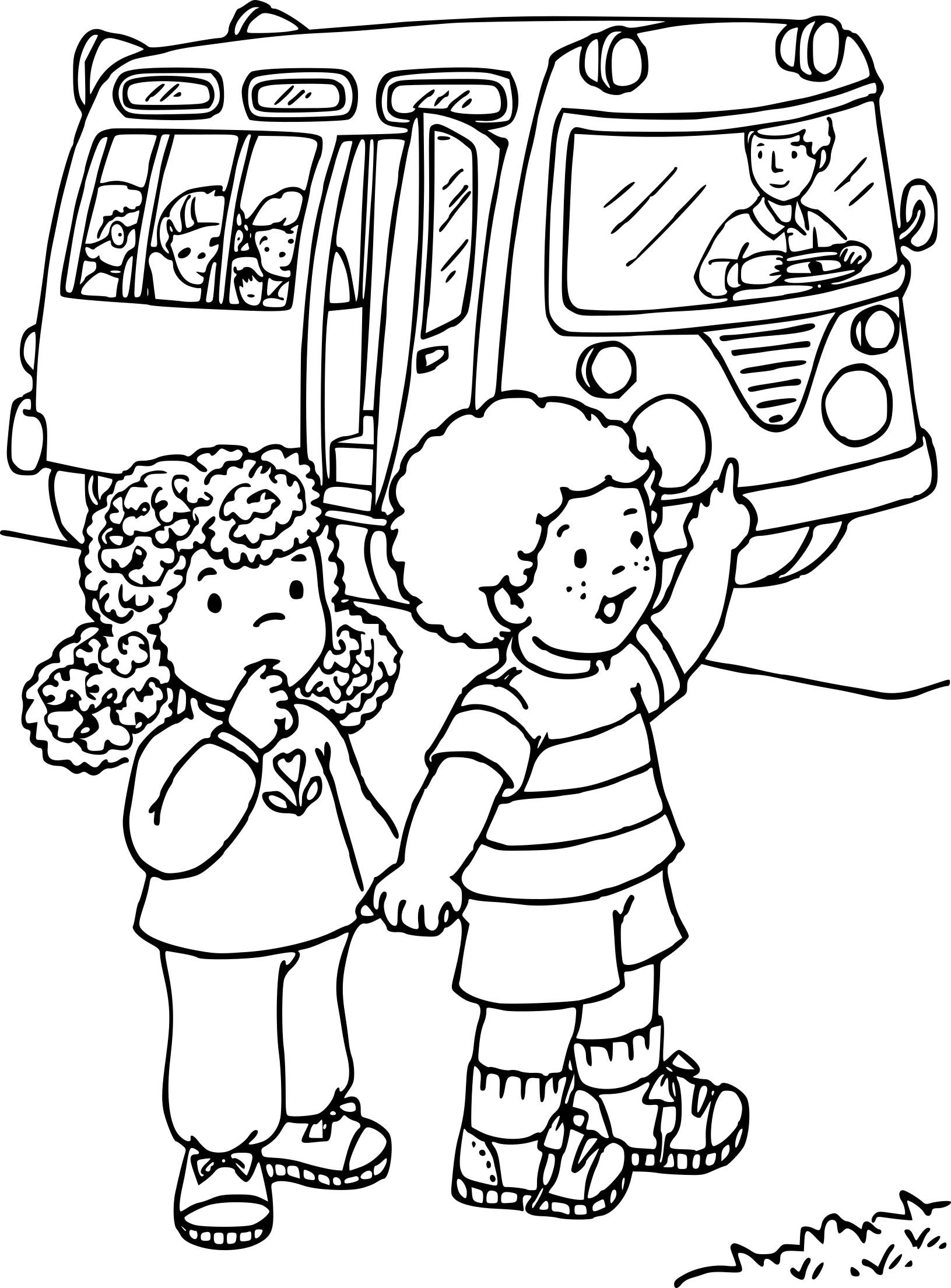 Coloriage Enfant Bus À Imprimer Sur Coloriages concernant Coloriage Enfant