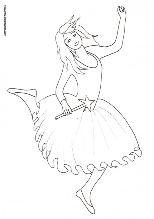 Coloriage Enfant : Coloriage Fee Ballerine - Enfant Tete A serapportantà Coloriage Danseuse A Imprimer Gratuit
